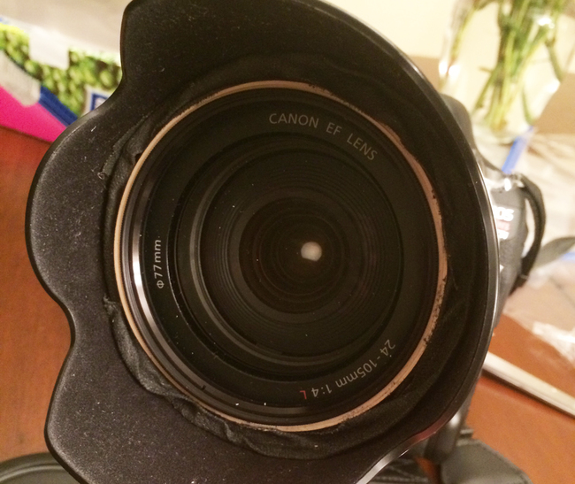 Front of camera lens