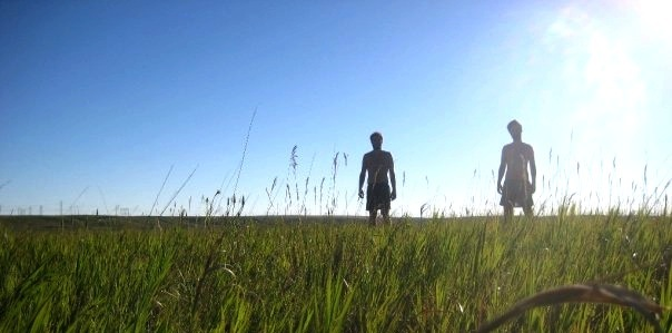 Dehaan and I in a field