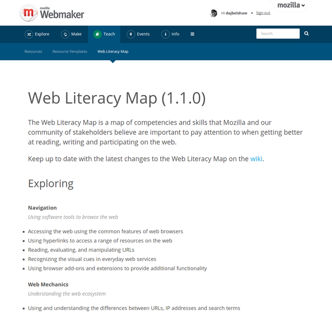 Web Literacy Map v1.1.0